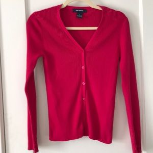 The Limited hot pink ribbed sweater